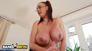 BANGBROS - Big Tits British Cougar Emma Butt Demands Massage From Step Son  stepmom videos big tits bang bros british bangbros uk mom white busty milf brunette cougar mother big boobs stepmomvideos fake tits