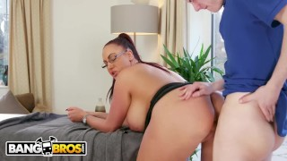BANGBROS - Big Tits British Cougar Emma Butt Demands Massage From Step Son Siblings busty