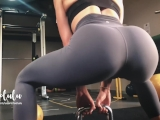 Workout w/ LeoLulu Turns to a Hard Fuck in the Gym's Toilets - Amateur
