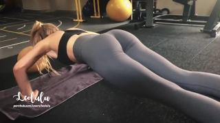 Workout w/ LeoLulu Turns to a Hard Fuck in the Gym's Toilets - Amateur Dad and