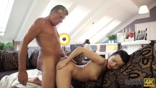 DADDY4K. Middle-aged man has fun with son's unsatisfied girlfriend Full reverse