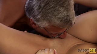 DADDY4K. Middle-aged man has fun with son's unsatisfied girlfriend Style blowjob