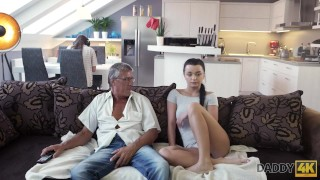 DADDY4K. Middle-aged man has fun with son's unsatisfied girlfriend Couples brother