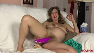 Preggo MILF Valentine Riding Her Toy