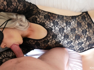 No Fair - Part 4! Blindfolded, hands tied, mouth fucked, pussy exploded!