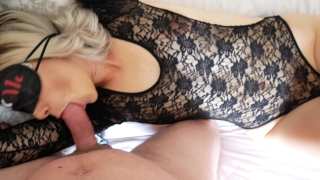Fucked tied blindfolded pussy exploded fair mouth no hands part tied eyes