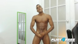 Tato Gari on Flirt4Free - Blatino Hunk Gives His Hot BBC Some Self Love