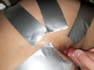Trying to fuck her in the ass