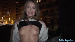 Public Agent Cheeky Brit Carmel Anderson gets a Pounding