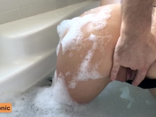 young amateur couple having passionate shower and hot tub sex cumtonic