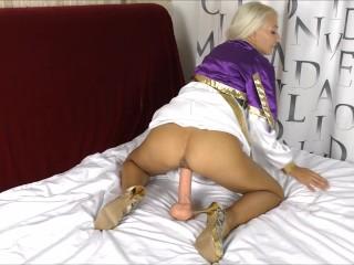 cosplay princesa obteve em dobro anal com dildos