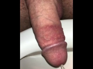 Pissing with morning wood