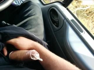 Public Roadside Cock Wanking & Condom Filling