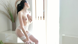 Intense fuck in hot lingerie till orgasm with his curved dick - 4k Ass busty