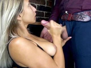 Teen Deepthroat Big Cock and Cum Closeup
