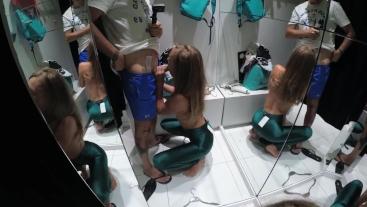 Sasha Bikeyeva - Sex Shopping (blowjob in dressing room)