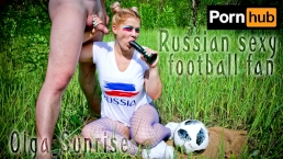 Russian sexy football fan