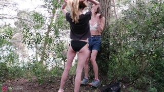 Preview 6 of Love and the sea with Beautiful Shemale Vicats and girl