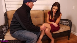 Hot Desperate Housewife MILF Loses Rent Money- Scenes 1 & 2 Mandy Flores porno