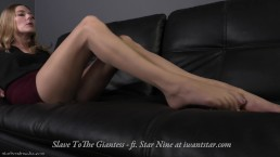 Slave to the Giantess - giantess foot domination smother ASMR - Trailer
