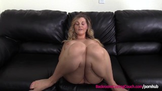 First Time Anal For Big Tits Blonde MILF on Casting Couch Wank homemade