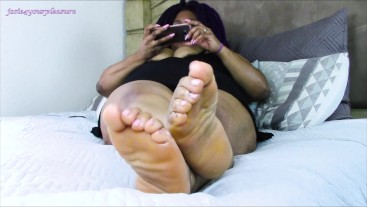 BBW Ebony Soles To Worship HD