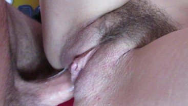 Close up sex with my girlfriend.fucking her wet big clit pussy