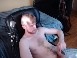 Hot young stud jerks and shows off his college dick for the internet to see