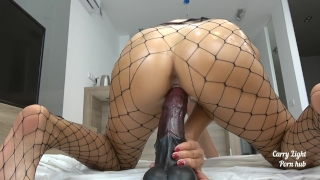Tiny Teen pounded with massive horse cock - creampie - Solo CarryLight Thiccivelvet point