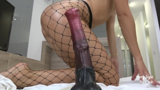 Tiny Teen pounded with massive horse cock - creampie - Solo CarryLight Cock mia