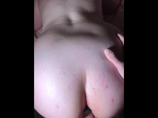 Butt plug in doggy with creamy pussy