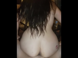 Reverse cowgirl...love the way she rides the dick