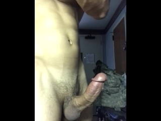 Sexy college hunk jerking off