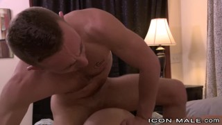 Straight Jock Gets Big Dick Rough Sex Before His Wife Gets Home