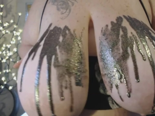 BBW Glitter on MASSIVE boobs