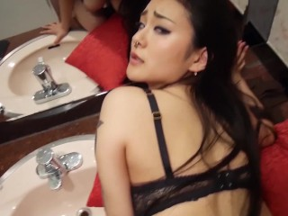Sexy Brunette Sucks Fucks And Takes A Large Cock In Her Ass
