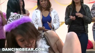 DANCING BEAR - Christie's Bachelorette Party With The Dancing Bear Pawg orgy