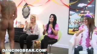 DANCING BEAR - Christie's Bachelorette Party With The Dancing Bear Kink crying
