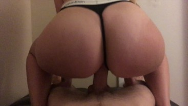 Tasty ass Loves Bouncing on cock!