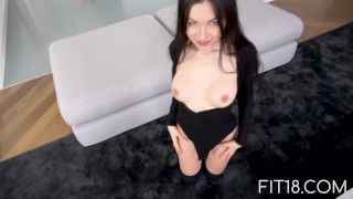 Fit18 - Sasha Rose - 45kg - 158cm - Sexy Fuck In Bodysuit Dripping tits