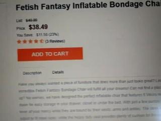 Fetish Fantasy Inflatable Bondage Chair Black $38.49 each