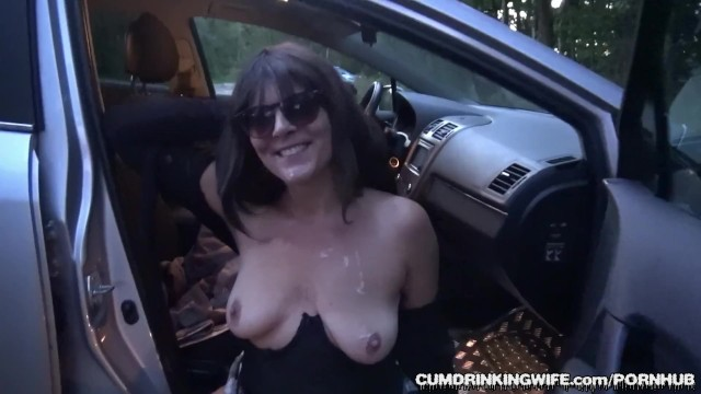 Reat area trucker fucker Slutwife marion gangbanged by 20 strangers at a rest area