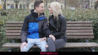 Karups - First Date Leads To Hard Fuck For Zazie Skymm Shaved tits