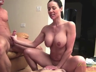Tape Bound Gagged Female Bodybuilder Porn Star Kendra Lust And Two Studs, Big Tits Brunette