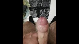 Huge 12 cumshot fountain with precum