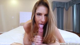 Tara Ashley gives Miles Long a great POV blowjob