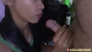 Asian Sex Diary - Filipina babe gets hairy pussy creampied  doggy style creampie slim asian pov missionary cock sucking asiansexdiary brunette petite perky tits trimmed pussy hand job
