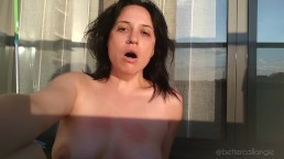 Summer burping and sweating in the Spanish sun, sexy topless TEASER