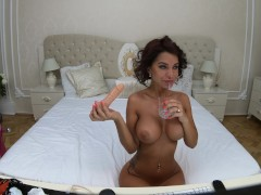 Anisyia Livejasmin 4k extreme gagging sloppy deepthroat blowjob