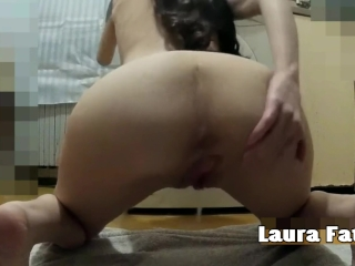 Horny MILF Masturbating and Squirting all over the Floor - Laura Fatalle